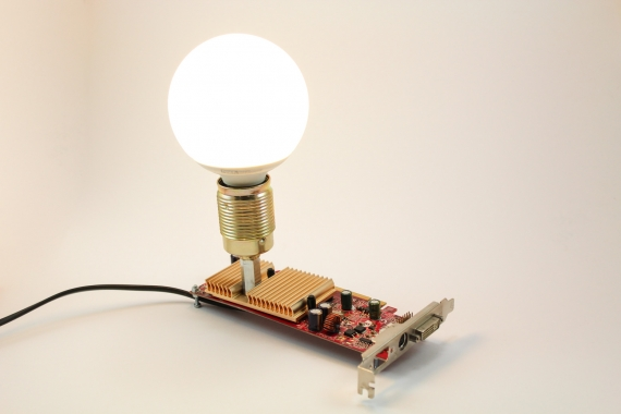 Lampa decorativa placa video calculator MSI